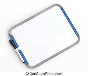 Memo Board - Dry erase memo board over white.