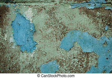 Background - Paint - background, old paint peeling from...