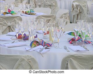 wedding reception - table set-up, wedding reception