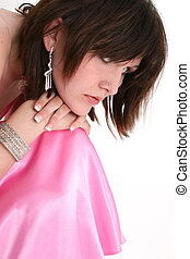 Teen Girl Formal - Beautiful sixteen year old girl in pink...