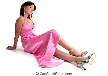 Teen Girl Formal - Beautiful sixteen year old teen in pink...