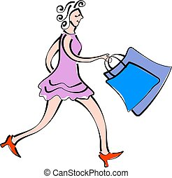 shopping - lady shopper