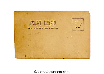 Old Postcard - Isolated Old Postcard
