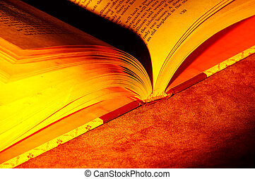 Open Book With Creative Lighting