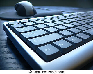 Keyboard closeup - PC keyboard closeup view