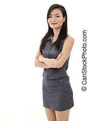 Asian Businesswoman 6 - A beautiful young asian woman in a...