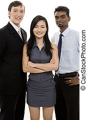 Diverse Business Team 4 - A happy group of three business...