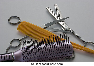 Hair care - Some of the tools used to keep one's hair...