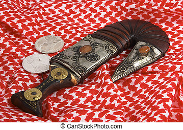 Arab heritage 3 - A traditional Arab dagger or khanjar,...