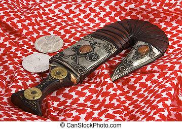 Arab heritage 3 - A traditional Arab dagger or khanjar,...