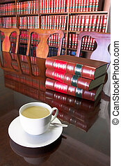Legal Coffee Cup 5 - White Coffee cup with Legal Library in...