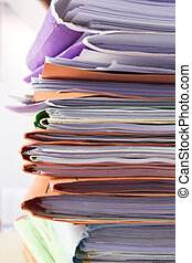 Filing cabinet 6 - Heap of coloured files
