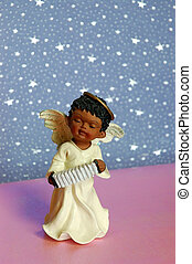 Angel Accordian - Angel With Musical Instrument