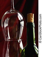 Wine Life Series - Wine glasses and bottle of red wine