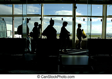 Airport Arrivals - Passengers Arriving After A Flight