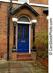 Blue Door - British Edwardian Front Door