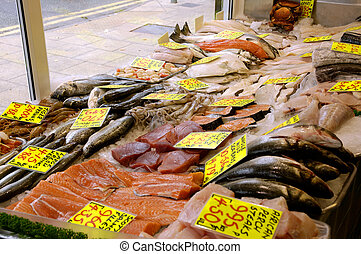 Fish Shop - British Fishmongers Window Display
