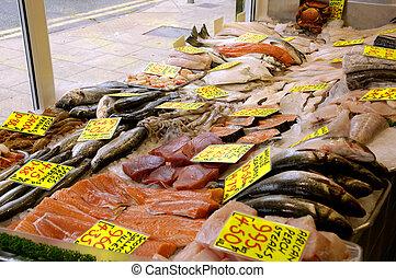 Fish Shop - British Fishmongers Window Display