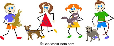 pet kids - kids with their pets