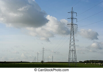 landscape with powerlines
