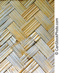 Woven bamboo wall from Thailand