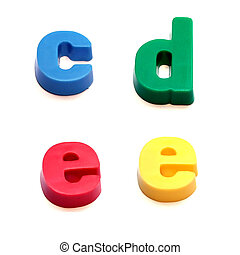 ABC fridge magnets - c, d and e Mix and Match to make your...