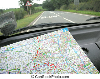 navigating the roads - finding the way around using a map