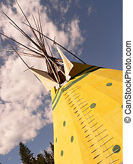 Tepee and Trees - Tepee in Banff National Park, Alberta,...