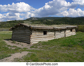 Cunningham Cabin, Flying U Ranch - Log cabin. Grand Teton...
