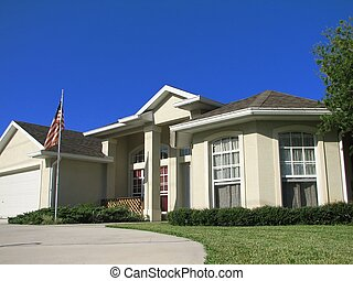 House - Shot of a beautiful house in Deltona, Florida.