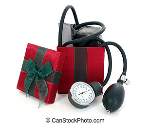 Blood Pressure Cuff in a Gift Box - Blood pressure cuff in a...