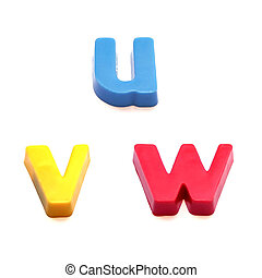ABC fridge magnets - letters u, v and w Mix and Match to...
