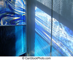 Blue Light Pool - Light streaming through a contemporary...