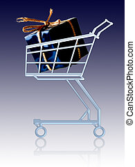 Gift in a cart - Gift in a shopping cart