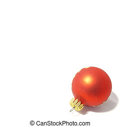 Christmas ornament isolated on a white background