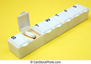 Monday meds - A medication dispenser opened for Monday's...