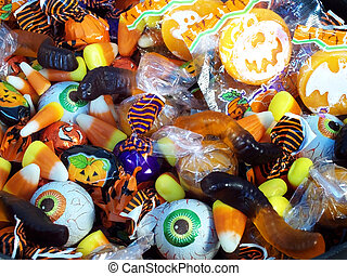 Halloween Candy 2 - Halloween candy in a plastic witches...