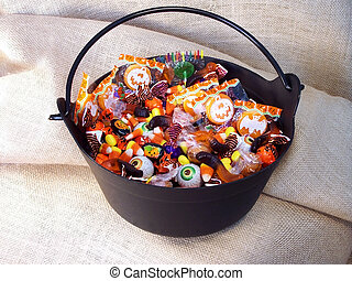 Halloween Candy 3 - Halloween candy in a plastic witches...