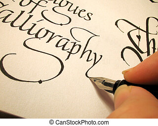 calligraphy3 - writing in calligraphy letter form