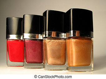 nailpolish bottles - different shades of nailpolish