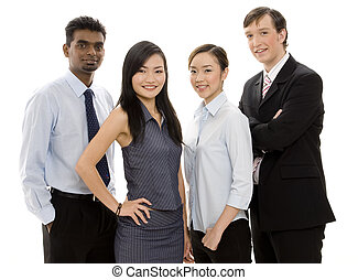 Diverse Business Team 2 - A diverse and confident group of...