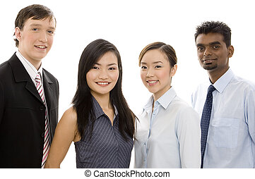 Diverse Business Team 4 - A happy and confident team of...