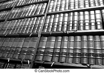 Legal books 5 - Legal Library in wooden bookcase - South...