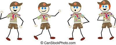 boy scout kids - boy scouts