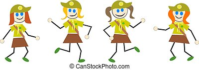 brownie kids - girl guides or brownies