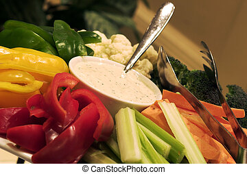 Salad Bar - Fresh vegetables served with a peppercorn...