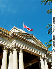 Federal Building - federal post office Canadian flag