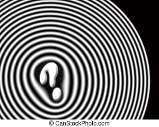 Question - Abstract background of a question mark surrounded...