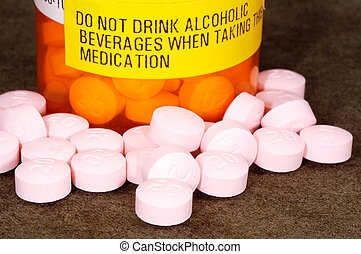 Pills and a Warning Label