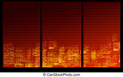 Night city - Window background series Night city